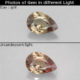 thumb image of 0.6ct Pear Facet Green to Red-Pink Color-Change Garnet (ID: 327800)