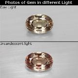 thumb image of 0.6ct Oval Facet Green to Red-Pink Color-Change Garnet (ID: 327844)