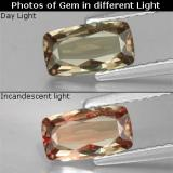 thumb image of 0.9ct Corte en Forma Cojín Oro Granate con Cambio de Color (ID: 329374)