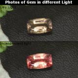 thumb image of 1.1ct Cushion-Cut Greenish Brown to Orange Color-Change Garnet (ID: 329375)