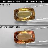 thumb image of 1.1ct Cushion-Cut Golden Brown to Orange Color-Change Garnet (ID: 329380)