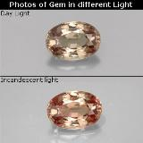 thumb image of 0.6ct Oval Facet Golden Brown to Orange Color-Change Garnet (ID: 329588)