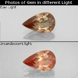 thumb image of 0.9ct Pear Facet Golden Brown to Orange Color-Change Garnet (ID: 344543)