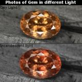 thumb image of 3.8ct Oval Facet Golden Brown to Orange Color-Change Garnet (ID: 344565)