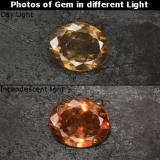 thumb image of 3.9ct Oval Facet Golden Brown to Orange Color-Change Garnet (ID: 344566)