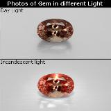 thumb image of 1.7ct Oval Facet Golden Brown to Orange Color-Change Garnet (ID: 344757)
