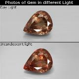 thumb image of 2.4ct Pear Facet Golden Brown to Orange Color-Change Garnet (ID: 344766)