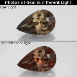 thumb image of 2.2ct Pear Facet Golden Brown to Orange Color-Change Garnet (ID: 344789)