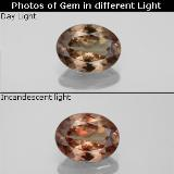 thumb image of 1.4ct Oval Facet Golden Brown to Orange Color-Change Garnet (ID: 344889)