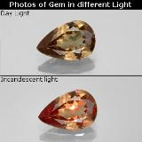 thumb image of 1.4ct Pear Facet Golden Brown to Orange Color-Change Garnet (ID: 344893)
