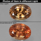 thumb image of 1.9ct Oval Facet Golden Brown to Orange Color-Change Garnet (ID: 344897)