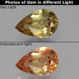 thumb image of 0.5ct Pear Facet Golden Brown to Orange Color-Change Garnet (ID: 345773)