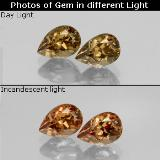 thumb image of 0.7ct Corte en forma de pera Marrón-oro Granate con Cambio de Color (ID: 345793)