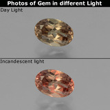 thumb image of 0.6ct Oval Facet Golden Brown to Orange Color-Change Garnet (ID: 346290)