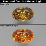 thumb image of 0.7ct Oval Facet Golden Brown to Orange Color-Change Garnet (ID: 346314)
