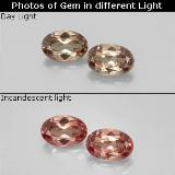 thumb image of 1.2ct Ovale facette Golden Brown to Orange Grenat Couleur Changeant (ID: 346317)