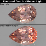 thumb image of 0.5ct Pear Facet Golden Brown to Pink Color-Change Garnet (ID: 346320)