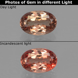 thumb image of 0.6ct Oval Facet Golden Brown to Orange Color-Change Garnet (ID: 356079)