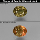 thumb image of 0.7ct Oval Facet Greenish Brown To Red Pink Color-Change Garnet (ID: 429007)