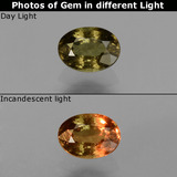 thumb image of 0.6ct Oval Facet Greenish Brown To Red Pink Color-Change Garnet (ID: 429008)