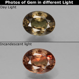 thumb image of 0.9ct Oval Facet Greenish Brown To Red Pink Color-Change Garnet (ID: 429108)
