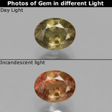 thumb image of 0.8ct Oval Facet Greenish Brown To Red Pink Color-Change Garnet (ID: 429113)