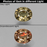 thumb image of 0.8ct Oval Facet Greenish Brown To Red Pink Color-Change Garnet (ID: 429114)