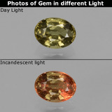 thumb image of 0.5ct Oval Facet Greenish Brown To Red Pink Color-Change Garnet (ID: 429268)