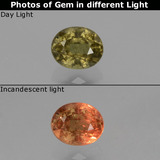 thumb image of 0.7ct Oval Facet Greenish Brown To Red Pink Color-Change Garnet (ID: 429270)