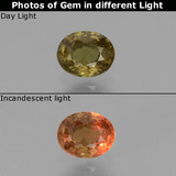 thumb image of 0.6ct Oval Facet Greenish Brown To Red Pink Color-Change Garnet (ID: 429271)