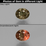 thumb image of 0.5ct Oval Facet Greenish Brown To Red Pink Color-Change Garnet (ID: 429273)