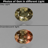 thumb image of 0.9ct Oval Facet Greenish Brown To Red Pink Color-Change Garnet (ID: 429326)