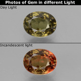 thumb image of 1ct Oval Facet Greenish Brown To Red Pink Color-Change Garnet (ID: 429333)
