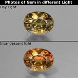 thumb image of 1.3ct Oval Facet Greenish Brown To Red Pink Color-Change Garnet (ID: 429484)