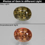 thumb image of 1.5ct Oval Facet Greenish Brown To Red Pink Color-Change Garnet (ID: 429491)