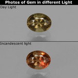 thumb image of 0.5ct Oval Facet Greenish Brown To Red Pink Color-Change Garnet (ID: 429627)