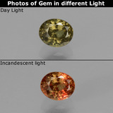 thumb image of 0.6ct Oval Facet Greenish Brown To Red Pink Color-Change Garnet (ID: 429630)