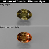 thumb image of 0.6ct Oval Facet Green to Red-Pink Color-Change Garnet (ID: 444172)