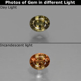 thumb image of 0.5ct Oval Facet Green to Red-Pink Color-Change Garnet (ID: 444173)