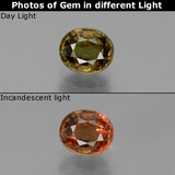 thumb image of 0.9ct Oval Facet Green to Red-Pink Color-Change Garnet (ID: 444174)