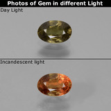 thumb image of 0.5ct Oval Facet Green to Red-Pink Color-Change Garnet (ID: 444175)