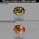 thumb image of 0.7ct Oval Facet Green to Red-Pink Color-Change Garnet (ID: 444176)