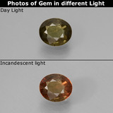 thumb image of 0.5ct Oval Facet Green to Red-Pink Color-Change Garnet (ID: 444484)