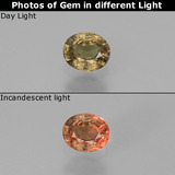 thumb image of 0.5ct Oval Facet Green to Red-Pink Color-Change Garnet (ID: 444485)