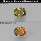 thumb image of 0.6ct Oval Facet Green to Red-Pink Color-Change Garnet (ID: 444486)