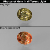 thumb image of 0.7ct Oval Facet Green to Red-Pink Color-Change Garnet (ID: 444489)