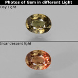thumb image of 0.8ct Oval Facet Green to Red-Pink Color-Change Garnet (ID: 444490)