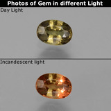 thumb image of 0.6ct Oval Facet Green to Red-Pink Color-Change Garnet (ID: 444491)