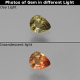 thumb image of 0.4ct Pear Facet Green to Red-Pink Color-Change Garnet (ID: 444492)