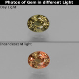 thumb image of 0.6ct Oval Facet Green to Red-Pink Color-Change Garnet (ID: 444668)